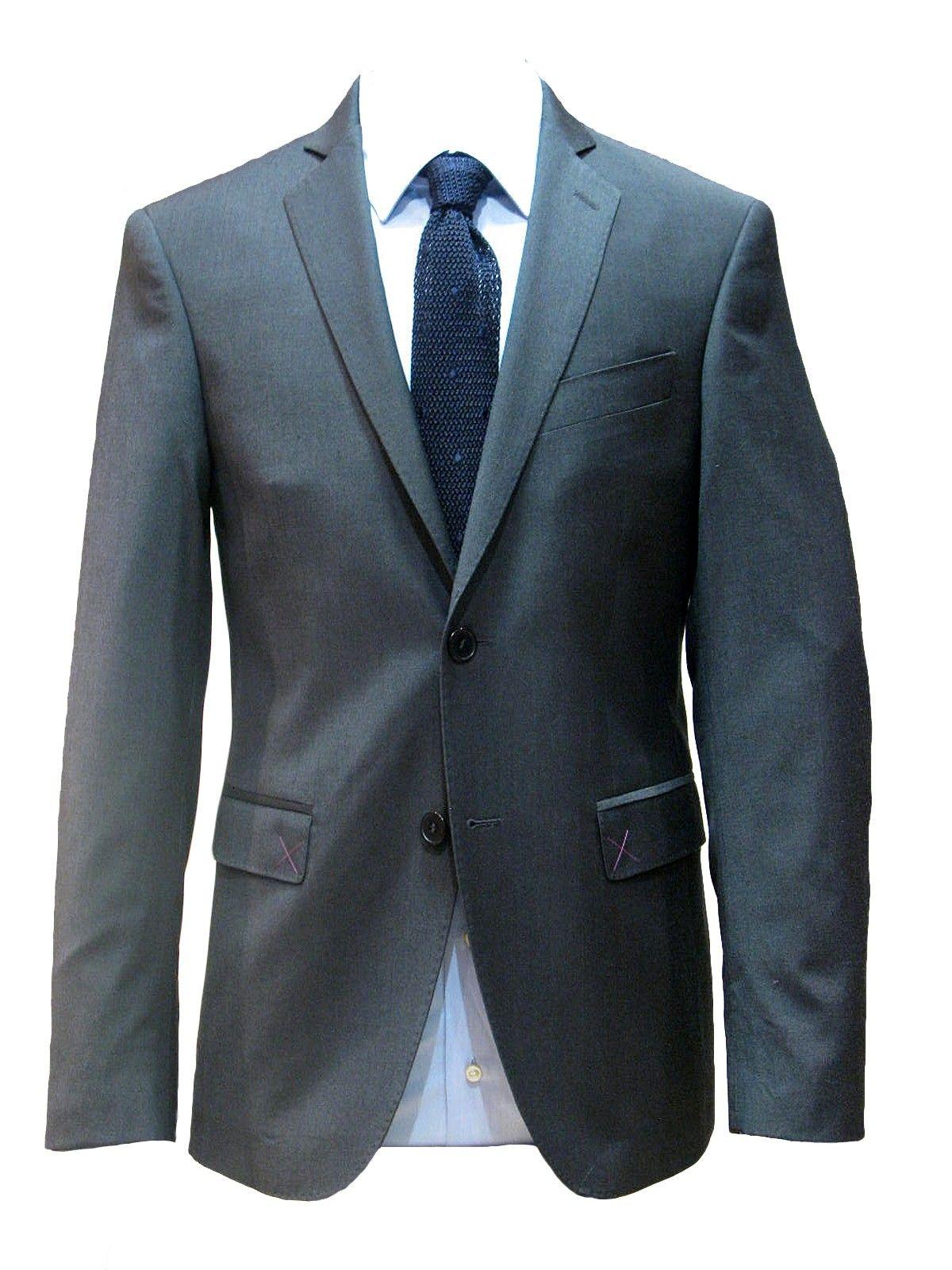 Costume homme gris fonce pure laine vierge 120 39 s alessandro paris - Costume gris fonce ...