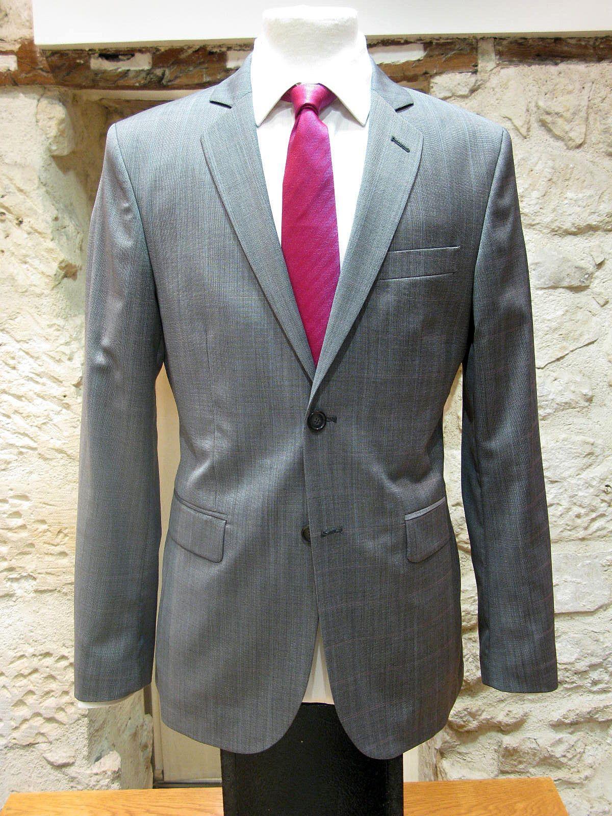 Costume homme alessandro gris clair a carreaux bleu et rose alessandro paris - Costume homme gris clair ...