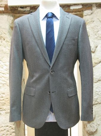 COSTUME HOMME ALESSANDRO FLANELLE GRIS CHINÉ Costumes