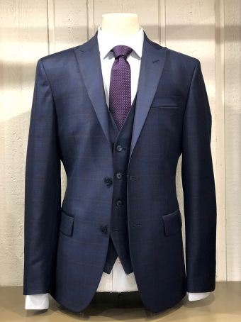 Alessandro Costume 3 Pieces Prince of Wales Blue Our selection